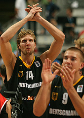 Dirk Nowitzki (Germany), Steffen Hamann (Germany)